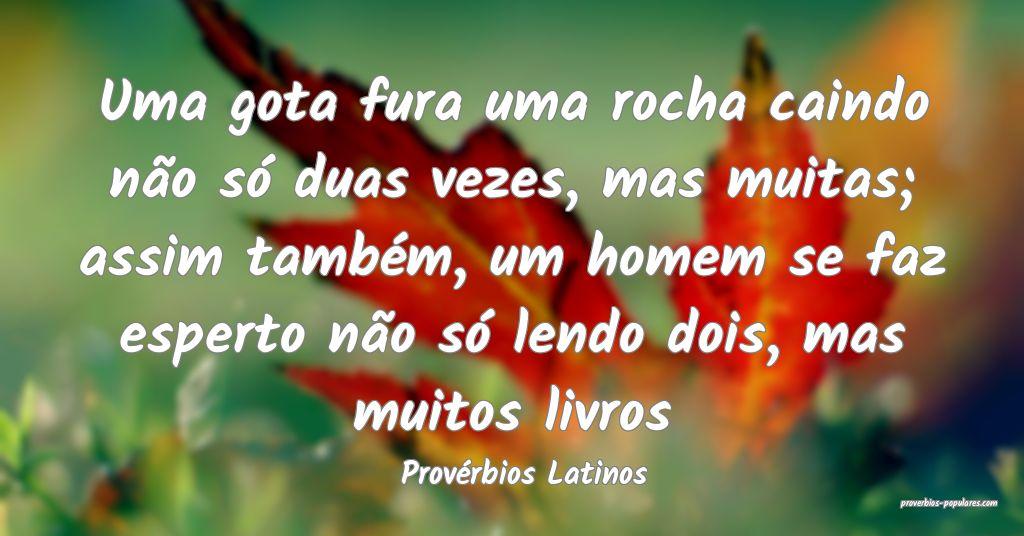 Provérbios Latinos - Uma gota fura uma rocha cain ...