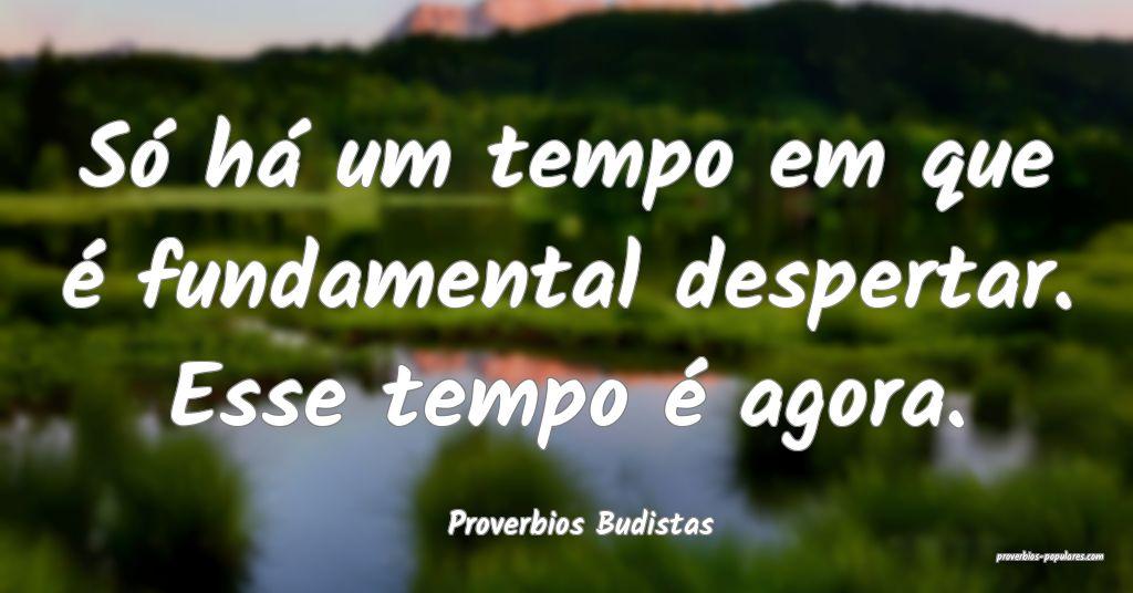 Proverbios Budistas - Só há um tempo em que é f ...