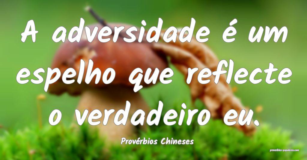 Provérbios Chineses - A adversidade é um espelho ...