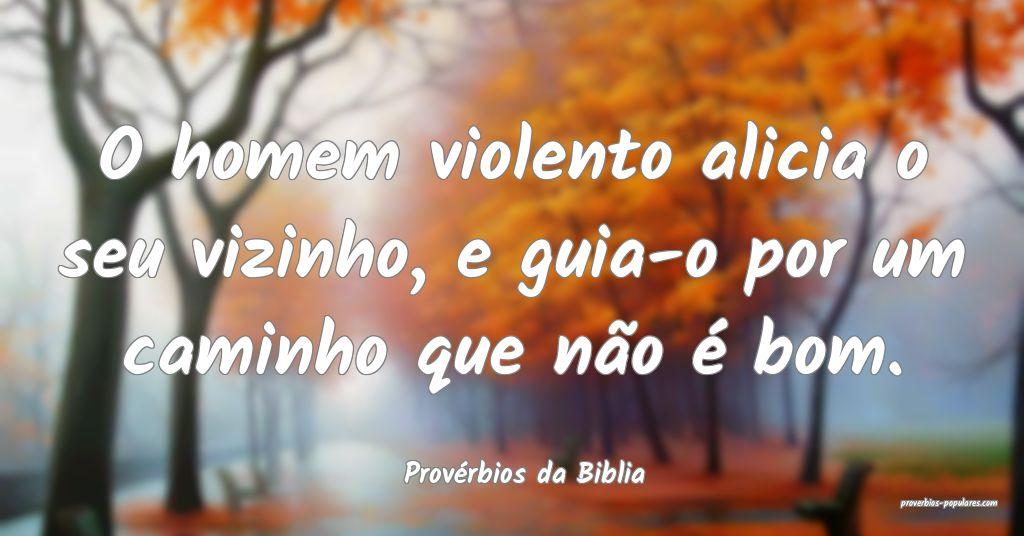 Provérbios da Biblia - O homem violento alicia o  ...