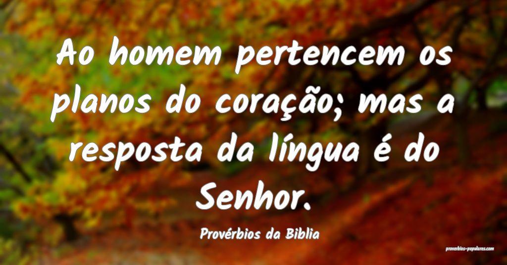 Provérbios da Biblia - Ao homem pertencem os plan ...