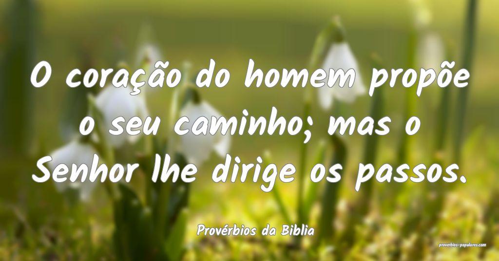 Provérbios da Biblia - O coração do homem prop� ...