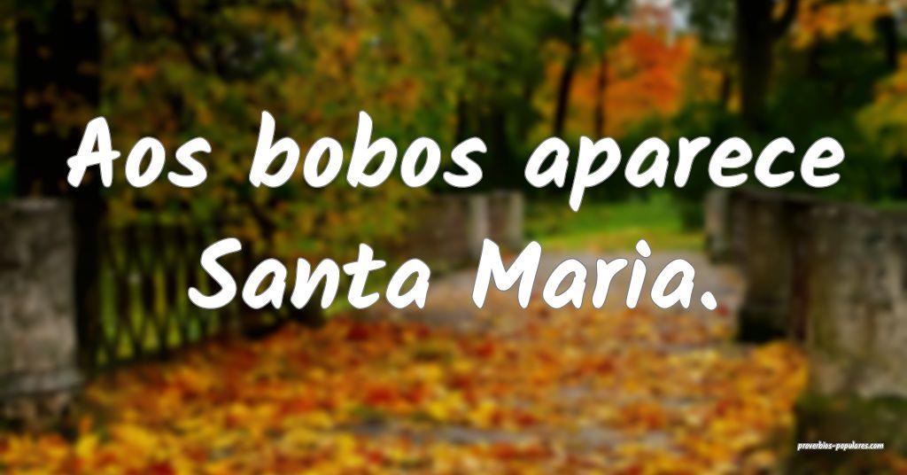 Aos bobos aparece Santa Maria.  ...