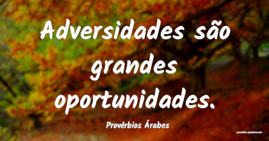 Provérbios Árabes - Adversidades são grandes op ...