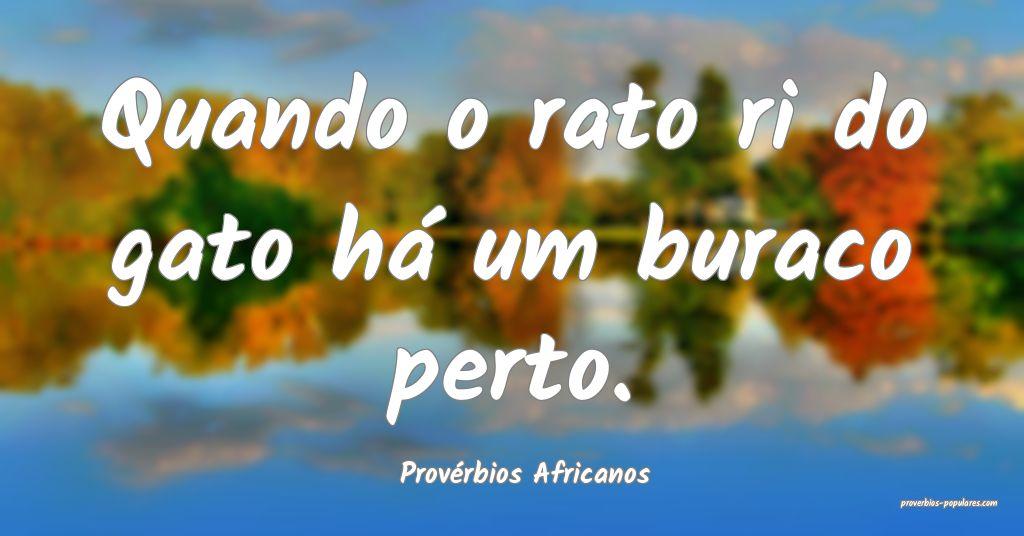 Provérbios Africanos - Quando o rato ri do gato h ...