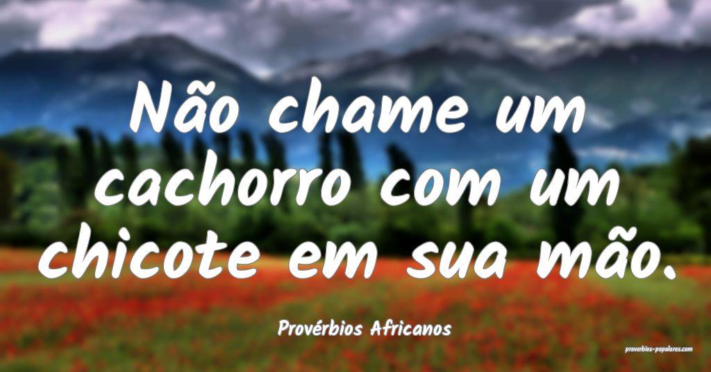Provérbios Africanos - Não chame um cachorro com ...