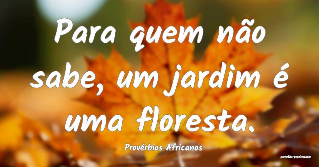 Provérbios Africanos - Para quem não sabe, um ja ...