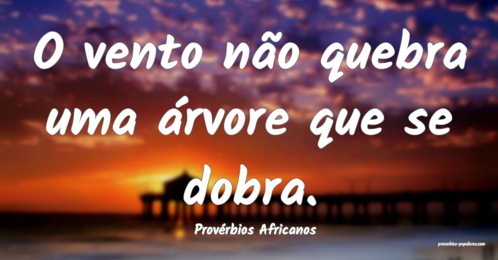 Provérbios Africanos - O vento não quebra uma á ...