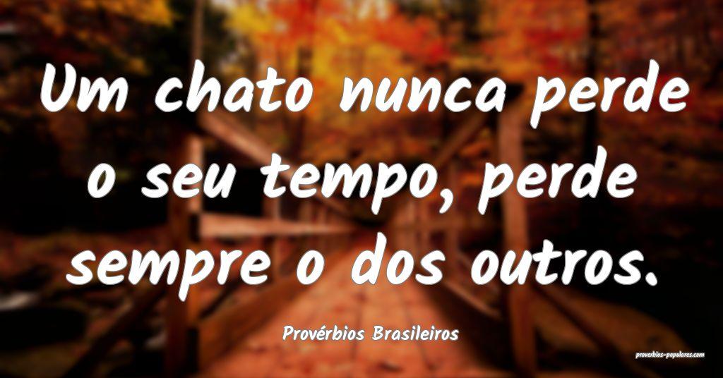 Provérbios Brasileiros - Um chato nunca perde o s ...