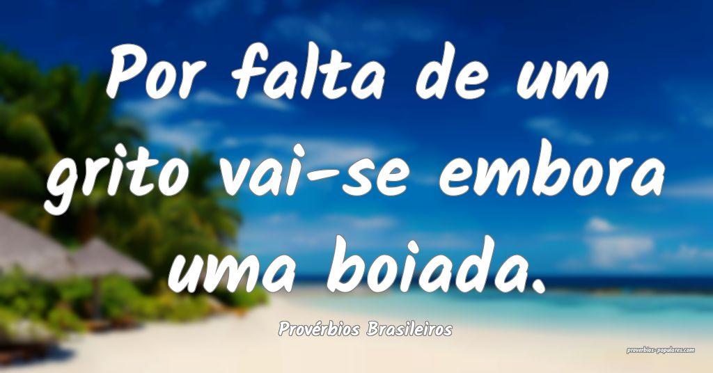 Provérbios Brasileiros - Por falta de um grito va ...